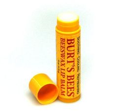 Burt's Bees lip balm. For more information go to http://www.burtsbees.com/natural-products/lips-lip-balms/beeswax-lip-balm-tube.html