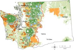 Map of All Jurisdictions for Northern Spotted Owl Conservation in Washington State