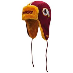 63ae4ff28 Washington Redskins New Era Helmet Head Trapper Knit Hat - Burgundy Gold