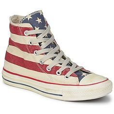 Converse ALL STAR STARS & BARS VINTAGE HI Wit / Blauw / Rood 350x350