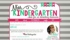 Miss Kindergarten | blog design