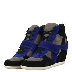 Ash 93681 Bowie Multi Womens Wedge Boots AW12 Black/Stone/Cobalt from www.hypedirect.com Sports Footwear, Wedge Boots, Bowie, Cobalt, Trainers, Baby Shoes, Stone, Sneakers, Black