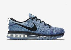 buy online 891b0 614d4 The Nike Flyknit Air Max is available now in this new Chlorine Blue  colorway that features Concord, Black and White accents.