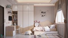 second suggestion for kid's bedroom design second suggestion for kid's bedroom design on Behance Kids Bedroom Designs, Kids Room Design, Design Bedroom, Interior Room Decoration, Room Interior, Girl Room, Girls Bedroom, Baby Room Decor, Bedroom Decor