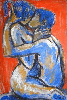 "Saatchi Art Artist Carmen Tyrrell; Painting, ""Lovers - Sweet Sixteen"" #art"