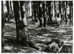 [Republican soldier with body on a stretcher during the battle of Mount Solluve, Bilbao front, Spain]