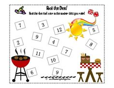 end of the year roll the dice math game