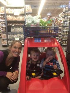 We had a great time shopping at the new Kennesaw Whole Foods which is right near our clinic and the church we attend! The little guys enjoyed driving the cart together!
