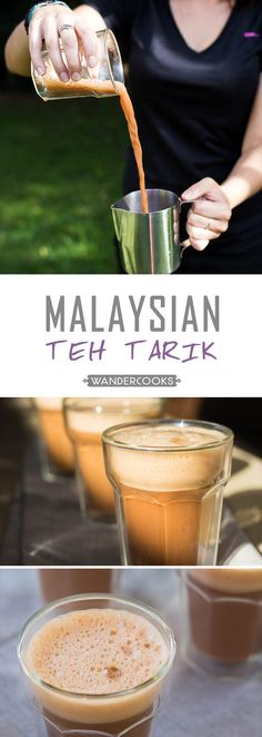 Ridiculously Fun Malaysian Teh Tarik - This South East Asian sweet drink, locally known as Teh Tarik or Pulled Tea, is a blast to make in the kitchen. | wandercooks.com