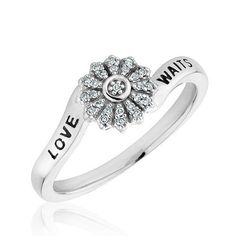 Sterling Silver Diamond Purity Ring - Size 7