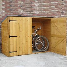Fairwood Pent Bike Store - Storage for up to 3 bicycles & DIY bike shed - need something for next to the house and Iu0027d like ...