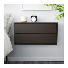 VALJE Wall cabinet with 2 drawers, brown brown 26 3/4x13 3/4