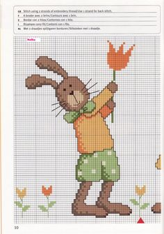easter time page 1 of 2 Cross Stitch For Kids, Cross Stitch Love, Cross Stitch Needles, Cross Stitch Animals, Counted Cross Stitch Patterns, Cross Stitch Charts, Cross Stitch Designs, Cross Stitch Embroidery, Hama Mini
