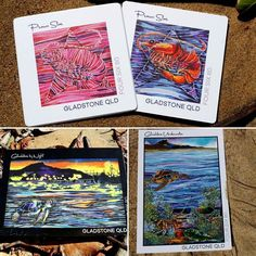 Looking to show off our great region...postcards and coasters  #gladstoneregion #queensland #localtalent #art #greatbarrierreef #prawnstar #postcard #snailmail #coaster #beachlife by foursix80 http://ift.tt/1UokkV2