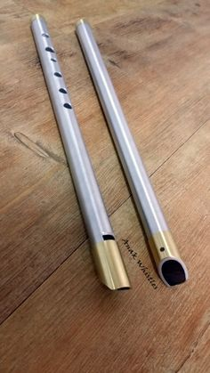 Anak Whistle (Metal & wood mixed) High D key. Celtic Instruments, Irish Flute, Homemade Musical Instruments, Woodwind Instrument, Tin Whistle, Flute Sheet Music, Native American Flute, Metal Workshop, Flautas