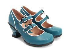 Fluevog Kitschy Kitschy Boom Boom Liz in teal. Shoe Boots, Shoe Bag, Women's Shoes, Fab Shoes, Unique Shoes, Dress Shoes, Mary Jane Heels, Shoe Shop, Retro
