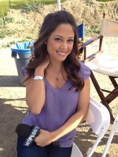Vanessa Minnillo Wearing Blue Nile for taping of WIPEOUT! #BlueNile #Celebrity