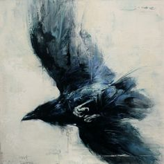 """Love Love the Freedom in this Painting..... """"Blackbird Fly"""" by Lindsey Kustusch"""