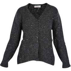 CARDIGAN CON PAILLETTES Bruno Manetti ($330) ❤ liked on Polyvore featuring tops, cardigans and bruno manetti