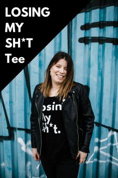 Now you can lose your sh*t in style with this on trend slogan tee for women. Its made from organic cotton, fairtrade and fairwear, of sales to PND charities too! SHOP NOW! Cool Slogans, Black And White Tees, Slogan Tshirt, Tees For Women, Pink Fashion, Losing Me, Tshirts Online, Adidas Jacket, Looks Great