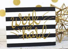 Silhouette America Blog | Modern Striped Canvas