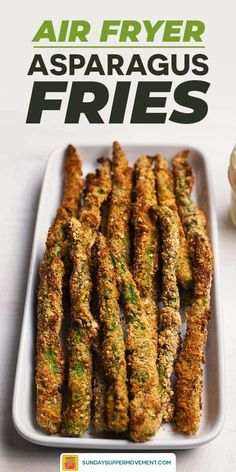 Air Fryer Asparagus Fries with Lemon Aioli Dip are going to be your new OBSESSION! One of the best air fryer recipes ever, these asparagus fries are out-of-this-world delicious and so easy to make. Grilled Asparagus Recipes, Asparagus Fries, How To Cook Asparagus, Baked Asparagus, Air Fryer Recipes Asparagus, Asparagus Skillet, Asparagus Casserole, Fresh Asparagus, Air Fryer Oven Recipes