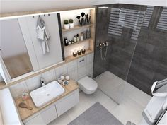 2 v 1 - Kristína Bedečová Double Vanity, Alcove, Bathtub, Bathroom, Design, Standing Bath, Washroom, Bathtubs, Bath Tube