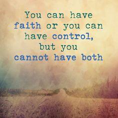 Faith & control