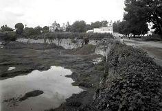 Terrenos donde se concmstruria el Parque Hundido a la derecha la Avenida Porfirio Díaz.