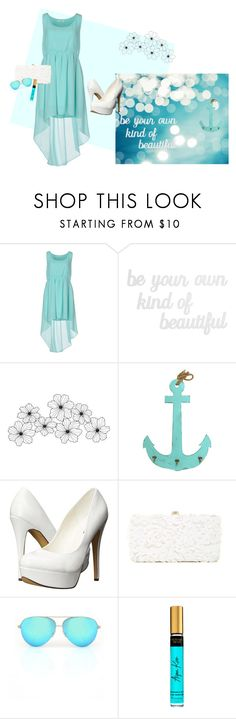 """Beautiful Turquoise Summer Dress"" by irisotten ❤ liked on Polyvore featuring Duck Farm, PBteen, Michael Antonio, Deux Lux and Victoria Beckham"