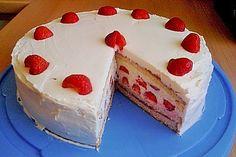Chocolate and strawberry cake - HQ Recipes Raffaello Dessert, Mascarpone Cake, The Joy Of Baking, German Desserts, German Cake, Chocolate Strawberry Cake, Types Of Cheese, Quick Easy Meals, Chocolate Recipes