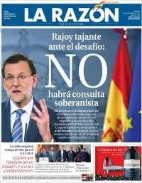 """""""Rajoy tajante ante el desafío: NO"""""""