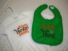 Born to Hunt Bib and Future Huntin Buddy by grinsandgigglesbaby1, $22.50 Baby Boy Camo, Baby Fever, Kids Clothing, Kids Outfits, Future, Trending Outfits, Children, Boys, Clothes