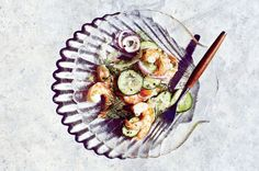 Shrimp Salad With Cucumber and Fennel