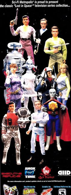 Lost in Space Action Figures...3 Professor Robinson figures and no Athena? The girl from the Green Dimension? Indeed!