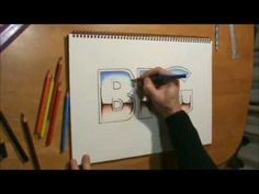 How to draw metallic chrome text letters.. easy as!!!!