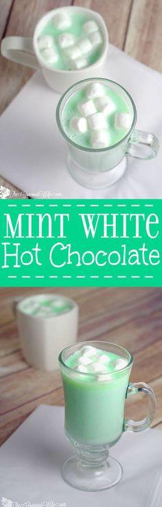 Homemade Mint White Hot Chocolate