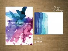 A stationery resource for engaged couples, wedding professionals and anyone who loves invitations. Oh, and stuff about Hip Ink too! Watercolor Wedding Invitations, Diy Invitations, Wedding Stationery, Invitation Cards, Invitation Ideas, Watercolor Typography, Watercolor Cards, Watercolour Invites, Corporate Design
