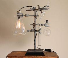 Industrial desk lamp steampunk antique by OBJECTSofINDUSTRY