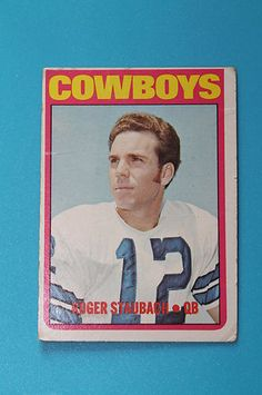 ROOKIE Roger Staubach card for sale $
