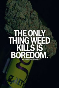 The only thing weed kills is boredom.
