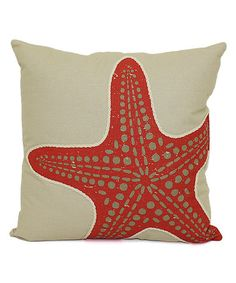Loving this Coral Starfish Throw Pillow on #zulily! #zulilyfinds