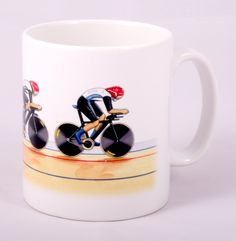 Women's Pursuit Famous Guitars, Ceramic Mugs, Limited Edition Prints, Classic Cars, How To Draw Hands, Women's Cycling, Ceramics, Tableware, Illustration