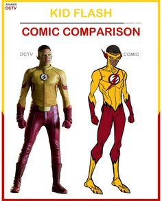 """81 Likes, 7 Comments - • Accurate.DCTV • dctv fanpage (@accurate.dctv) on Instagram: """"• Kid Flash - Comic Comparison • Kid Flash is one of my favorite comic characters and to see him…"""""""