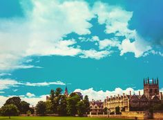 #Oxford #bluesky #photography #London #cloudy #clouds #mertoncollege