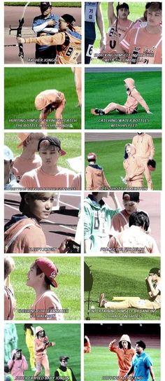 kai exo jogin at super idol athletic things