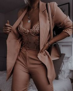 Glamouröse Outfits, Teen Fashion Outfits, Cute Casual Outfits, Pretty Outfits, Stylish Outfits, Elegantes Outfit, Looks Chic, Professional Outfits, Suit Fashion