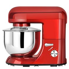 Litchi Stand Mixer 6Speed TiltHead Food Stand Mixer 45Qt 650W SM983R Red ** To view further for this item, visit the image link. (This is an affiliate link)