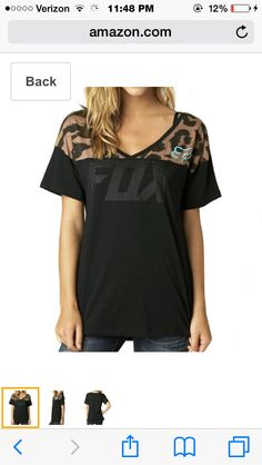 366c009fde4081 Fox Racing Girls Longshot Football V-Neck Short-Sleeve Shirt Medium Black