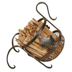Wrought Iron Wood Holder.